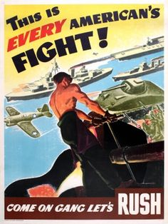This is Every American's Fight WWII, 1942 - original vintage poster listed on…