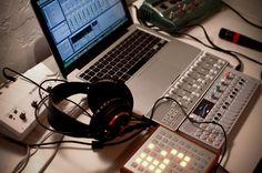 awesome live setup #op1 #monome #ableton