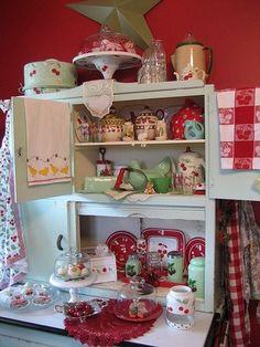 Vintage Hoosier Cabinet home vintage retro decorate hutch display cabinet hoosier