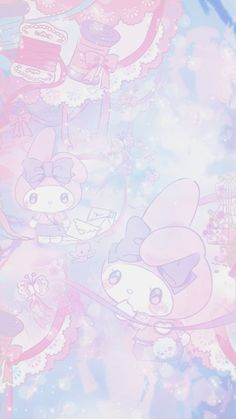 Explore wallpaper images discovered by Sanrio Wallpaper, Pink Wallpaper Kawaii, Rilakkuma Wallpaper, My Melody Wallpaper, Cute Pastel Wallpaper, Hello Kitty Wallpaper, Cute Wallpaper Backgrounds, Wallpaper Iphone Cute, Cute Wallpapers