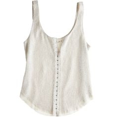 RENZO AND KAI Diamond Stud Tank (4.295 ARS) ❤ liked on Polyvore featuring tops, shirts, tank tops, tanks, long tank tops, long white tank top, white crop tank top, white tank tops and crop tank