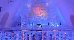 Hotel de Glace | @grace_ormonde @wedding_style | The Ice Bar at the Hotel de Glace in Quebec