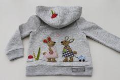 Pullover & Sweatshirts - Kapuzensweatjacke♥HaSENFrEUNDE♥NEU - ein Designerstück von milla-louise bei DaWanda