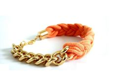 Bracelet 'Jersey Baby Girl' by Diamond & Jewels. Available in 7 colors - with golden or silver curb chain.