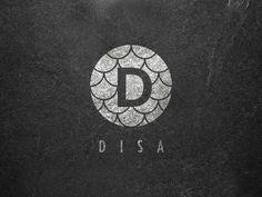 DISA Fish Leather Artisan designed by Dylan Taylor. Letterhead Design, Branding Design, Food Branding, Corporate Branding, Don Fisher, Lip Logo, Coffee Shop Logo, Textile Logo, Water Logo