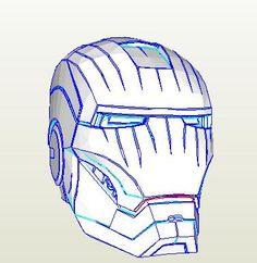 Výsledek obrázku pro pepakura iron man helmet download