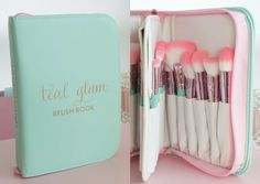 Sparkle bright and bold with teal! Inspired by the signature Tiffany blue, these brushes are the perfect combination of shimmering jewels and alluring color!♥♥ Add some GLAM to your beauty routine! Th