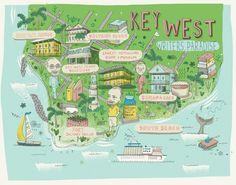 James Gulliver Hancock : Map of Key West