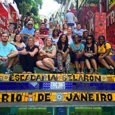 Teaching Tourism and Experiential Education Through Travel: Mister Brazil! Pictured: With students from the University of South Carolina in Rio de Janeiro.