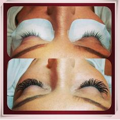So getting this done.... lash extensions ♡