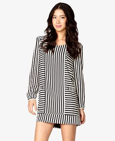 Mixed Stripes Shift Dress | FOREVER21 - 2081570967