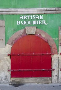 "This lovely red door is from our feature ""Spirits of Strasbourg"""