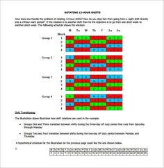 Hour Employee Schedule Template  Schedule Template