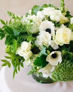 """Our """"moss"""" palette is just as vibrant and stunning as any other color in the rainbow. We offer local same-day delivery.order by to have your own custom arrangement delivered TODAY! Floral Arrangements, Flower Arrangement, Centerpieces, Table Decorations, Flower Delivery, Rainbow Colors, Floral Wreath, Herbs, Wreaths"""
