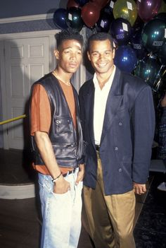 Actor Marlon Wayans and Wolfgang Bodison attending 'State Summer School for Arts Honors Gala' on May 21 1993 at the Sony Studios in Culver City...
