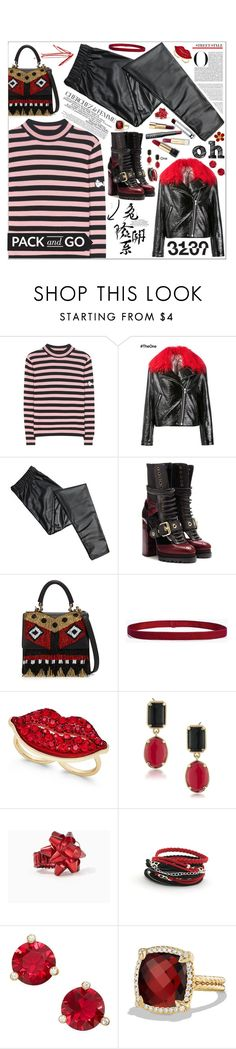 """""""Untitled #143"""" by biinabnab ❤ liked on Polyvore featuring Shrimps, Burberry, Les Petits Joueurs, La Femme, Boohoo, Thalia Sodi, 1st & Gorgeous by Carolee, Kate Spade and David Yurman"""