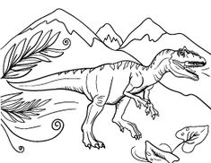 Allosaurus Coloring Page PagesPdfColouring PagesPrintable