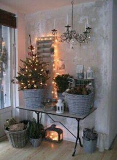 Agradable rincon rústico para Navidad