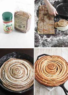 Giant Cast Iron Skillet Cinnamon Roll Recipe