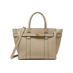 fd7e2e833c Shop the Small Zipped Bayswater in Dune Leather at Mulberry.com. The  Bayswater is