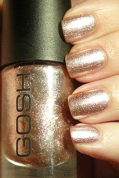Gold has always been my color :) Cute Nails, Pretty Nails, Gosh Cosmetics, Tasteful Tattoos, Frou Frou, Sparkles, Wedding Styles, Fashion Beauty, Nail Polish