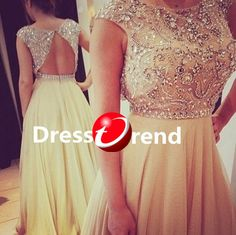 Long Cute Party Dress - Long prom dresses, Chiffon Beading evening dress,prom dress/cocktail dress/homecoming/party Dresses 2014 on Etsy, $199.99