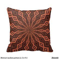 Abstract modern pattern pillow