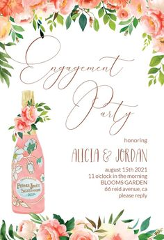 Brunch and Bubbly - Engagement Party Invitation #invitations #printable #diy #template #Engagement #party #wedding Lunch Invitation, Happy Birthday Cards, Diy Birthday, Birthday Card Template, Engagement Party Invitations, Wedding Engagement, Bubbles, Printable, Place Card Holders