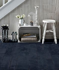 Black Slate Calibrated Modular Tile | Topps Tiles