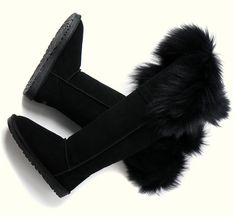 Find More   Information about free shipping 2014 genuine leather snow boots australia over the knee oversized fox fur nubuck cowhide tall winter boots  shoes,High Quality  ,China   Suppliers, Cheap   from pure    color on Aliexpress.com