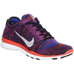 Nike Free Tr Flyknit (210 CAD) ❤ liked on Polyvore featuring shoes, athletic shoes, hers trainers, trainers, low top, athletic running shoes, breathable shoes, nike footwear and woven shoes