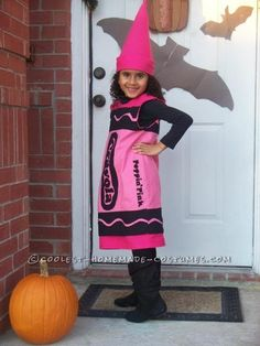 Girls Halloween Crayola Crayon Costume ... This website is the Pinterest of costumes