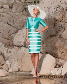 4f52e33eb62 Sonia Pena 1160122 - Strappy shift dress and matching jacket .Dress has a  gold buckle