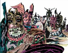 Jack Kirby paintings | Kirby living room photo: The painting to the cover of the 1970 Kirby ...
