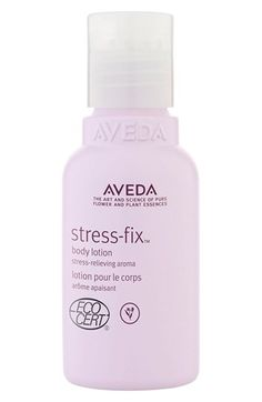 Free shipping and returns on Aveda 'stress-fix™' Body Lotion (1.6 oz.) at Nordstrom.com. Hydrating body lotion clinically proven to relieve feelings of stress. Aroma includes essences of lavender, lavandin and clary sage from organic farms and is formulated using the science of Aromaology™ and the power of pure essential oils.<br><br>How to use: Smooth on to clean skin, over entire body with gentle, circular motions. Not for the face.