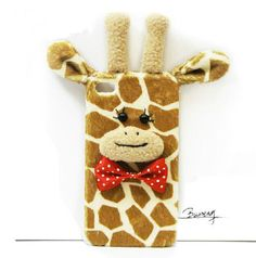 Girls 3D Animal Giraffe Case for iphone 5s iphone 4 by trendcases, $20.00