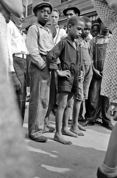 Boys in crowd, National Rice Festival, Crowley, Louisiana, 1938