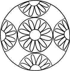 mandala blume mandala zum ausmalen windowcolor pinterest mandalas. Black Bedroom Furniture Sets. Home Design Ideas