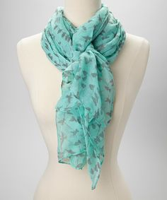 Take a look at this Mint & Gray Bird Scarf on zulily today!