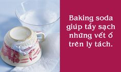 stain on cups? baking soda comes to the rescue