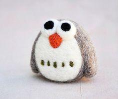 Cute Needle Felting Owl Kit For DIY Lovers