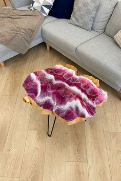 Epoxy Wood Table, Slab Table, Resin Crafts, Resin Art, Wood Art, Shag Rug, Solid Wood, Interior, Wave