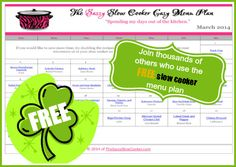 Free printable March Slow Cooker Menu Plan - Money Saving Mom®
