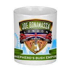 Joe Bonamassa Tour de Force Collectable Mug – Shepherds Bush - Wake up and grab your cup of Joe with this collectable white Tour de Force Joe Bonamassa mug celebrating the Shepherds Bush Blues Night Concert.