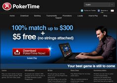 $5 no deposit poker bonus at PokerTime: http://www.nodepositbonus.cc/poker-time  Poker Time is owned and operated by Digimedia LTD, a distinguished operator of myriad online gambling sites, with software licensed in Malta. It supports 14 languages and payments in EUR and USD.
