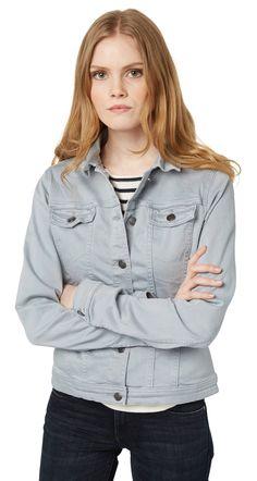 Jeans-Jacke mit Strech-Anteil - coloured denim jacket von TOM TAILOR
