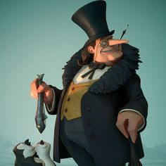 The Penguin, Brad Myers on ArtStation at https://www.artstation.com/artwork/WGak2
