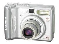 Canon PowerShot A540 6.0 MP Digital Camera - Silver