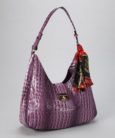 Love this Purple Alligator Hobo by Vecceli Italy on #zulily! #zulilyfinds