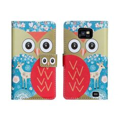 For Samsung Galaxy S2 Case Cover Wallet Cute Cartoon Lovely Animal Leather Book Flip Purse Coque Fundas Cover For Galaxy S2 Case